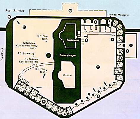 Fort Sumter Architecture And Armaments - Us map fort sumter